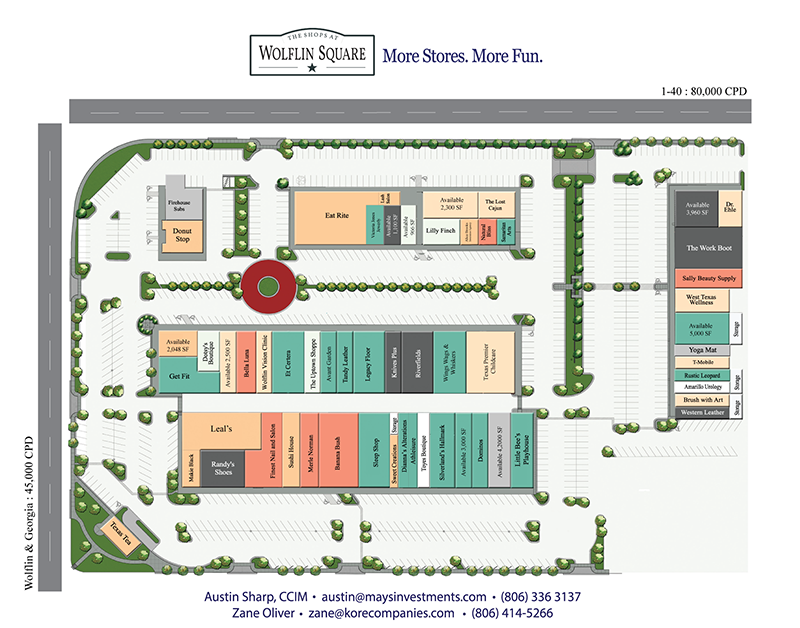 Wolflin Square Retail Map